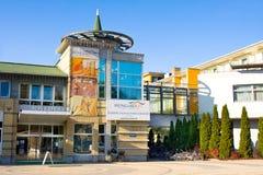 HAJDUSZOBOSZLO,匈牙利- 11月2,2015 :Hungarospa -老热量浴在Hajduszoboszlo,匈牙利 温泉 免版税库存图片