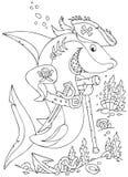 Hajen piratkopierar Arkivfoton