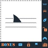 Hajfenasymbol framl?nges vektor illustrationer