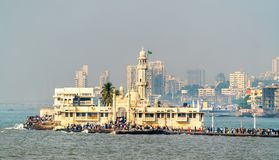 Haji Ali Dargah, sławny grobowiec i meczet w Mumbai, India obrazy royalty free