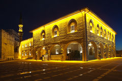 Haji Bayram Mosque bij nacht ankara Turkije Stock Fotografie