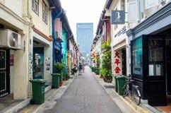 Haji Lane che è individuato a Singapore fotografia stock libera da diritti
