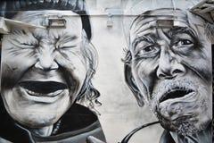 Haji Lane, graffito di Singapore fotografie stock libere da diritti