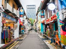 Haji Lane in Kampong Glam Singapore Offers Place to Hangout royalty free stock photos