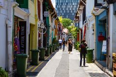 Haji Lane in Kampong Glam, Singapore Stock Images
