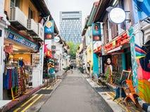 Haji Lane in Kampong Singapore affascinante offre il posto al ritrovo fotografie stock libere da diritti