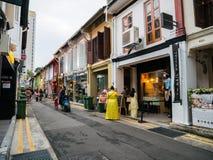Haji Lane in Kampong Singapore affascinante offre il posto al ritrovo immagine stock libera da diritti