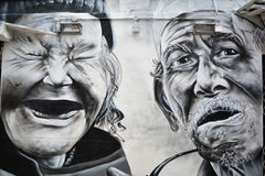 Haji pas ruchu, Singapur graffiti Zdjęcia Royalty Free