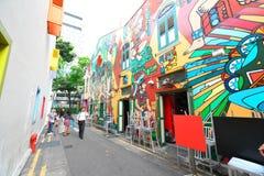 Hajigränd Singapore Arkivfoton