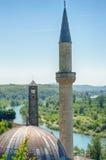 Hajji Alija Mosque a Pocitelj, Bosnia-Erzegovina fotografia stock libera da diritti