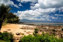 Hajliten vik, Oahu Royaltyfri Bild