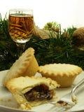 Hak taartjes en sherry fijn Stock Foto