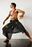 Haka Dance. A man performs the Haka, a traditional Maori dance made famous by the New Zealand rugby team, the All Blacks Royalty Free Stock Image