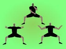 Haka dancers. Men in black dresses dancing haka Royalty Free Stock Images