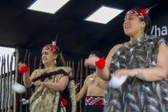 Haka van de Maori traditionele dans stock foto