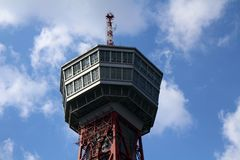 Hakata porttorn, runt om den Fukuoka hamnen Arkivfoton
