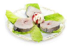 Hake slices Royalty Free Stock Photography