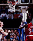 Hakeem Olajawon Houston Rockets Arkivbild
