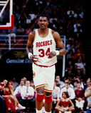 Hakeem Olajawon Houston Rockets Arkivfoton