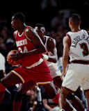 Hakeem Olajawon, Houston Rockets Stock Photography