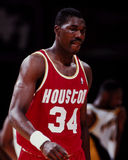 Hakeem Olajuwon, Houston Rockets Imagem de Stock Royalty Free