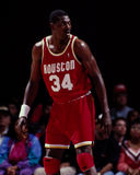 Hakeem Olajuwon, Houston Rockets Royalty-vrije Stock Foto's