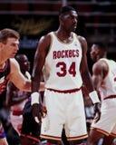 Hakeem Olajuwon, Houston Rockets Fotografia de Stock Royalty Free