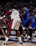 Hakeem and Shaq. Stock Images