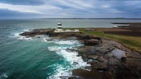 Haken-Hauptleuchtturm Wexford irland lizenzfreie stockfotos