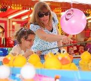 Haken Sie die Entenspaßmesse Stockfotografie