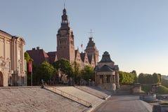 Hakenterasse in Stettin stock foto's