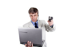 haker ataku Zdjęcia Stock