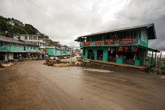 Hakha Town Center, Burma Stock Photos