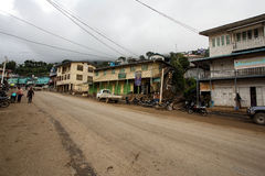 Hakha Town Centre in Chin State, Myanmar Stock Photography