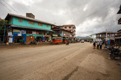 Hakha Town Centre in Chin State, Myanmar Stock Images