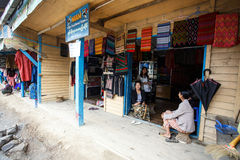 Hakha Town Centre in Chin State, Myanmar Stock Photo