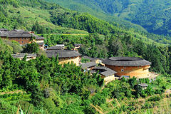 Hakka dwellings (tulou) Royalty Free Stock Images