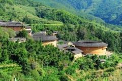 Hakka dwellings (tulou). In China Royalty Free Stock Images