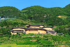 Hakka dwellings (tulou). In China Royalty Free Stock Image
