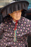 A Hakka old woman in Kat Hing Wai of Hong Kong Stock Image