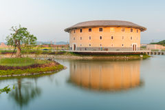 Hakka Tulou structures in Miaoli, Taiwan Royalty Free Stock Photo