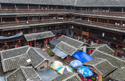 Hakka Tulou traditional Chinese housing in Fujian Province of Ch Royalty Free Stock Photography