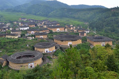 Hakka villages. Hakka village (chinese name is tulou Stock Images