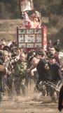 Hakkalycka av den verkliga lyktafesten Royaltyfria Foton