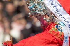 Hakkalycka av den verkliga lyktafesten Royaltyfri Bild
