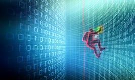 Hakker in actie Royalty-vrije Stock Afbeelding