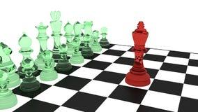 Hakker die cyberdefende op een schaakraad confronteren Royalty-vrije Stock Afbeeldingen