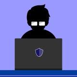 Hakker online Royalty-vrije Stock Afbeeldingen