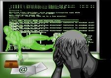 Hakkeraanval Royalty-vrije Stock Afbeeldingen