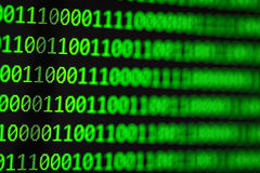 Hakkerconcept De binaire codes van de computer Royalty-vrije Stock Fotografie